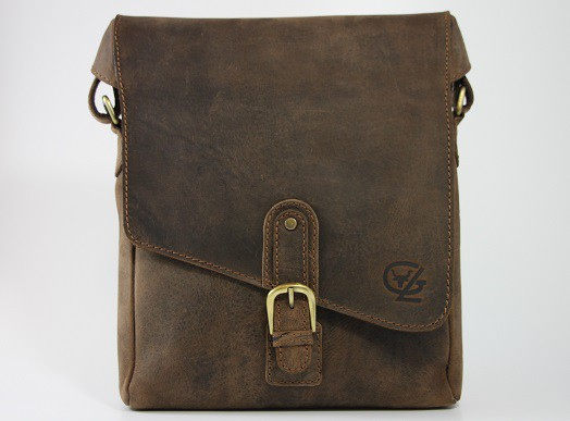 T612 - Collegetasche aus Büffelleder