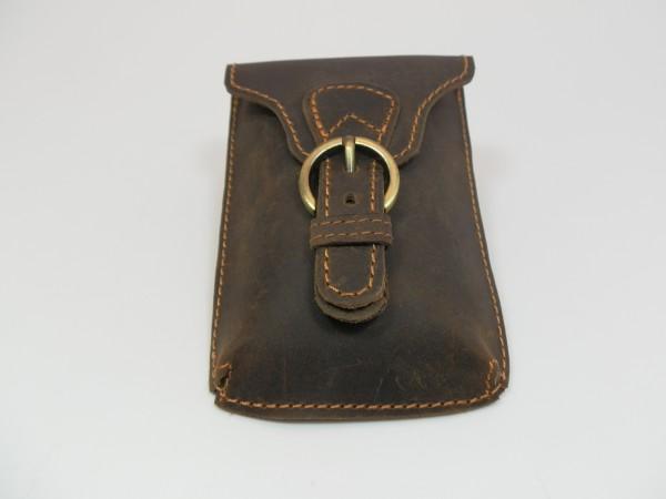 BP01 – kleine Gürteltasche aus Vintageleder im Hochformat