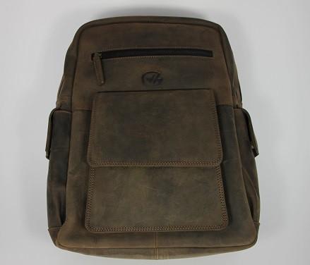 R3063-H - großer Rucksack aus Büffelleder mit Innenfutter