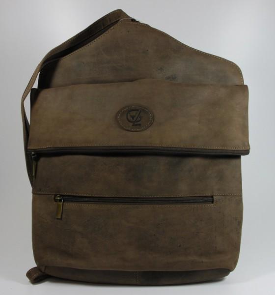 R012-H - großer Rucksack aus Büffelleder