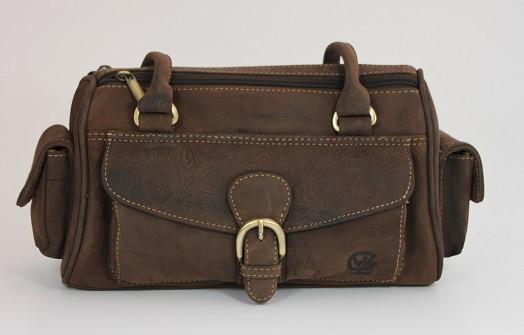 T195203 - Bowler - modische Damenhandtasche aus Büffelleder