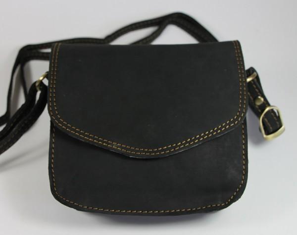 T054-H – kleine Damentasche quer pflanzlich gegerbt aus Büffelleder