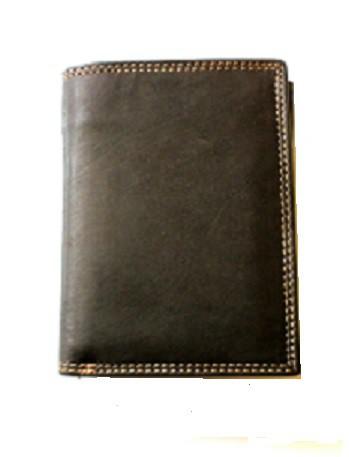 1110 - Geldbörse Vollleder, 2 Klappen, Innenriegel hoch