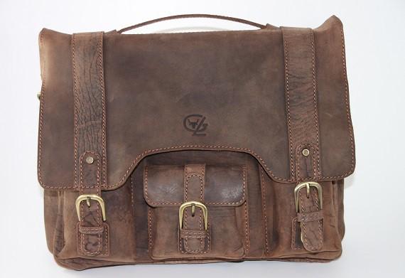 T622 - große Aktentasche aus Büffelleder